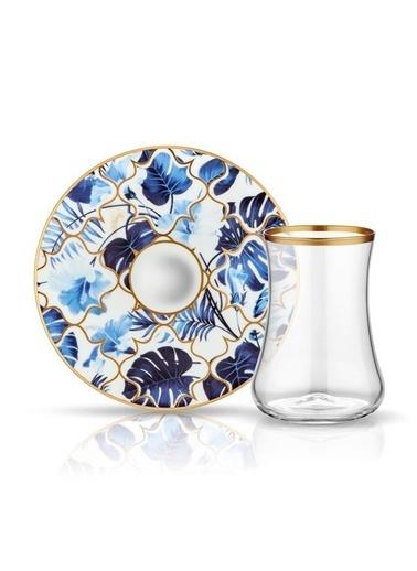 Koleksiyon Çay Seti 6'Lı Amazon Mavi Şeffaf Renkli